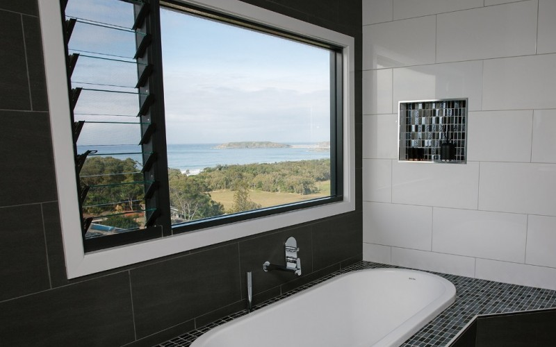 Ensuite with a view